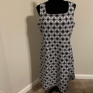 The Limited Blue & White Square Neck Dress